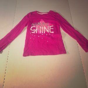 Girl's sparkle shine glittery long sleeve shirt